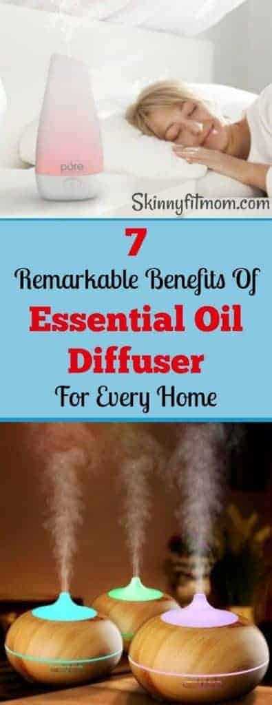 7 Remarkable Benefits Of Essential Oil Diffuser For Every Home- You will never believe how much essential oil diffuser makes us healthier. This is a must have for every home.