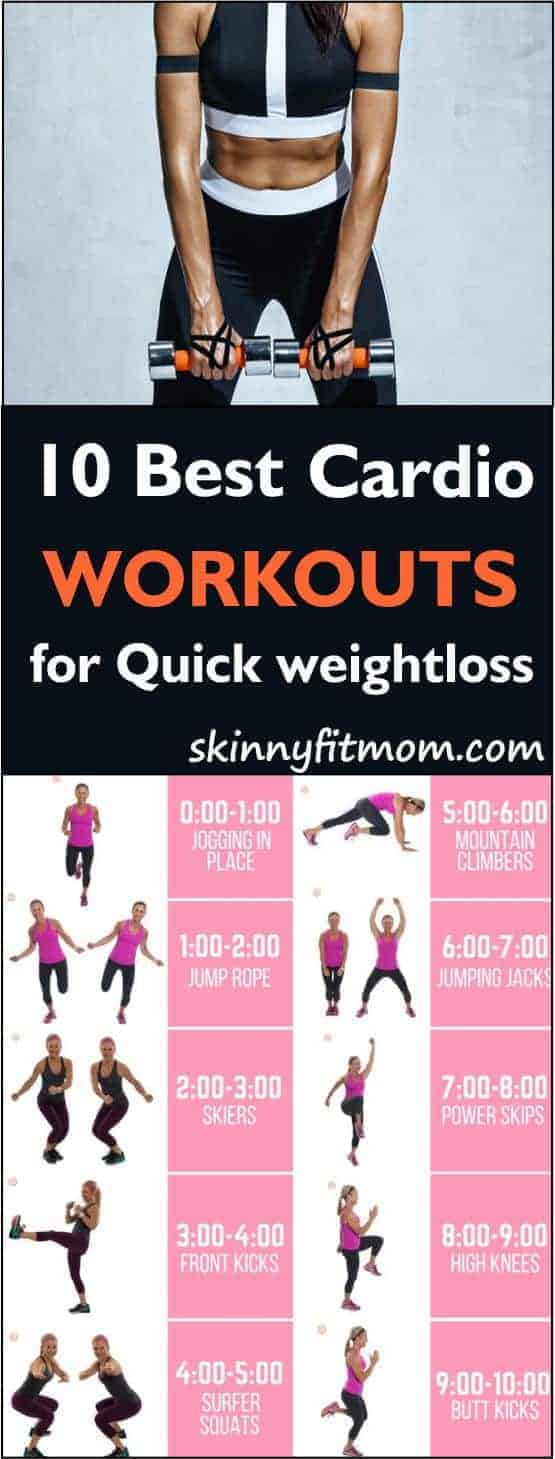 10 Best cardio-workouts at home for Weight Loss and Belly Fat Burning: It burns off fat real quick!