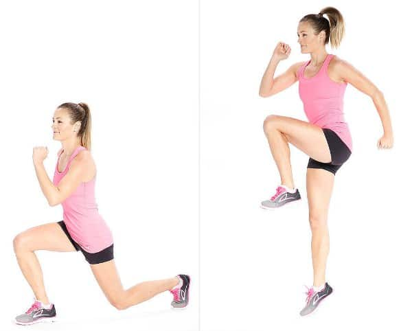 Reverse Lunges- 10 Best Cardio Workouts at Home – For Quick Weight Loss and Belly Fat Burning