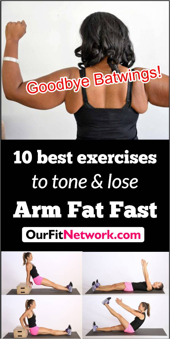 10 Best Shoulder Exercises to Get Rid of Flabby Arms For Women. #flabbyarms #armfat