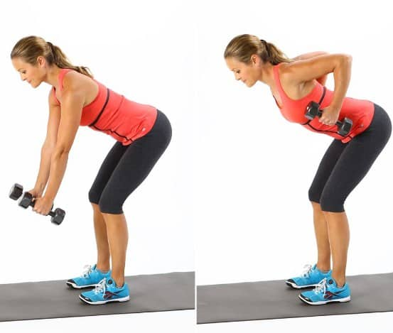 Bend over row-10 Best Exercises to Tone and Lose Arm Fat Fast