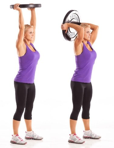 Tricep-Extension-10 Best Exercises to Tone and Lose Arm Fat Fast