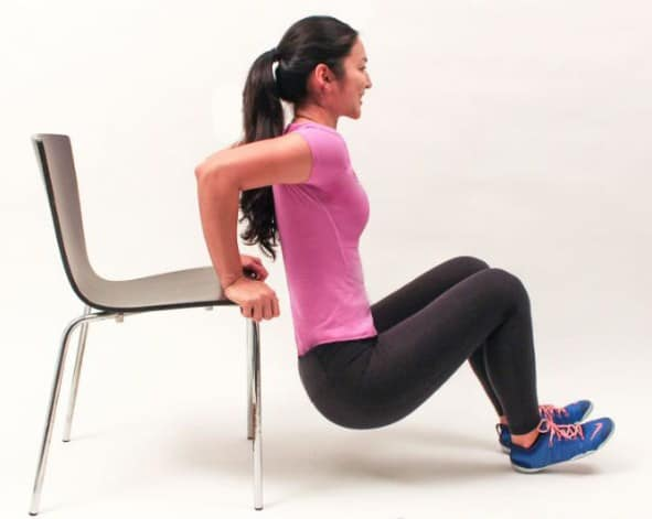 Triceps Dips-Best Shoulder Exercises to Lose Fat and Tone Arm