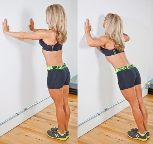 Wall Push-Ups -Best Shoulder Exercises to Lose Fat and Tone Arm