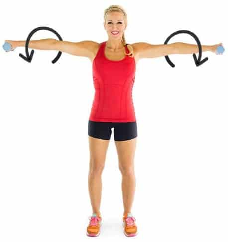 Arm Circles-10 Best Exercises to Tone and Lose Arm Fat Fast