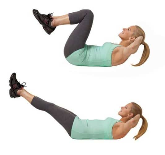 Low-Belly Leg Reach- 13 Simple Exercises To Burn Belly Fat Quickly