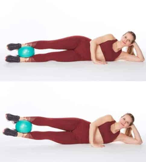 Side-Lying Double Leg Lifts To get rid of Thigh Fat