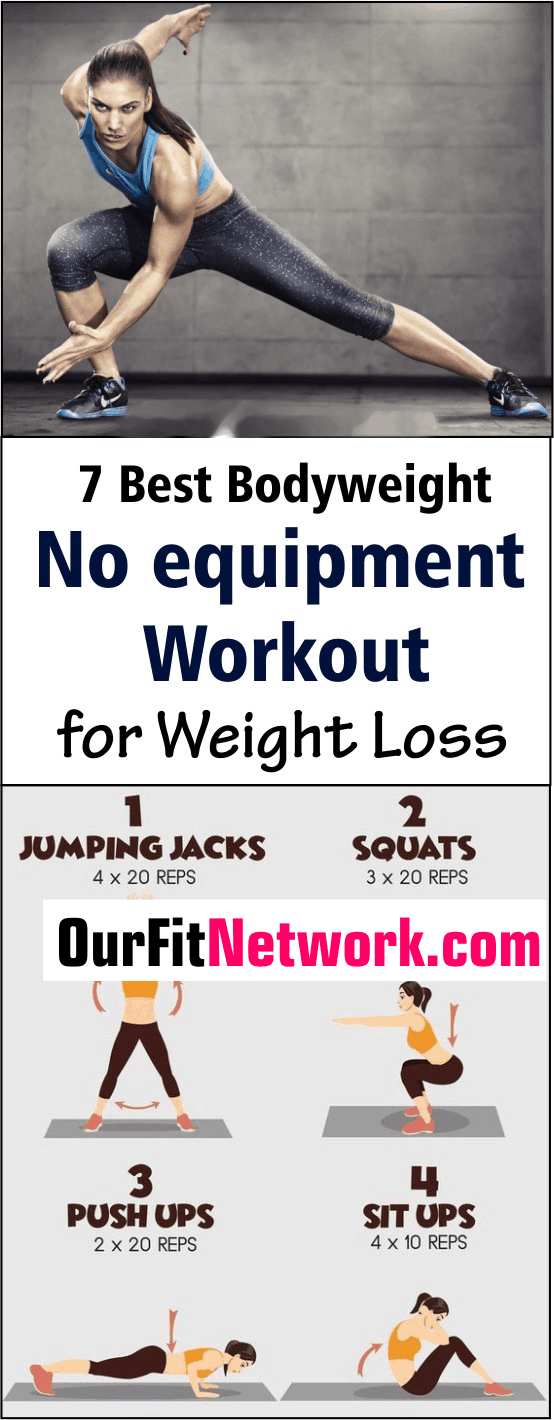 Here are workouts that can be added to your daily workout routine for rapid weight loss. These moves work your main muscle groups; helping you sculpt a well-toned body in the process. #NoEquipmentWorkout #WeightLoss #BodyweightWorkout