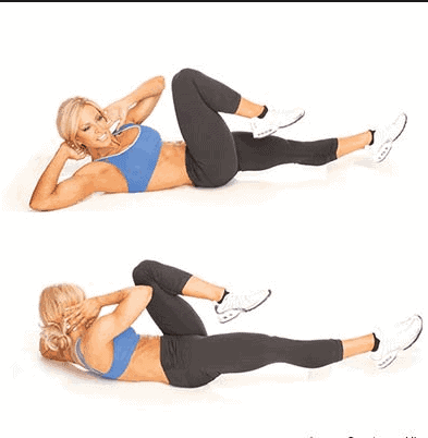 Bicycle Crunches- 8 Best Exercises to Get Rid of Love Handles