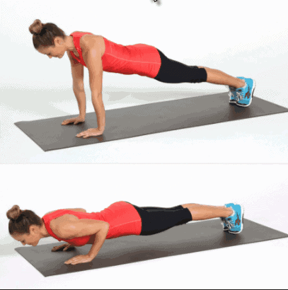 Push ups- 8 Best Exercises to get rid of muffin top