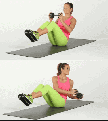 Russian twists workout to Get Rid of Love Handles