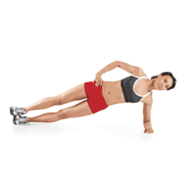 Side Plank - Lower Back Core Workout Moves