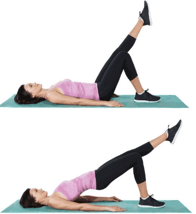 Single Leg Glute Bridge - 7 Best Core Exercises for Lower Back Pain To Get Instant Relief