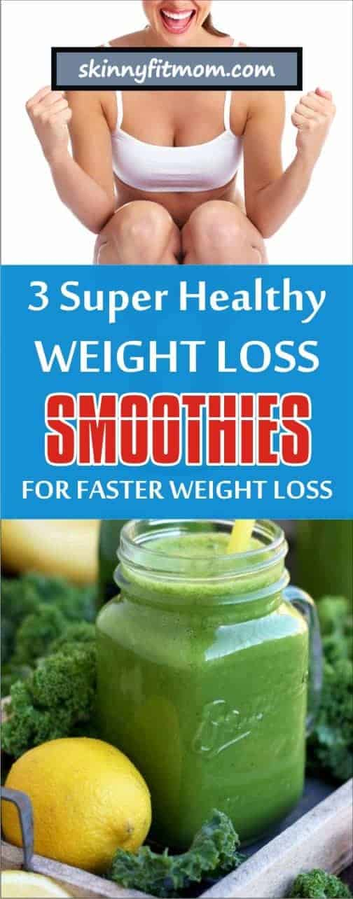 These are 3 delicious and easy-to-make smoothie recipes for instant weight loss. Fruits, vegetables, nuts, seeds and so on have so much nutritional values that aid weight loss, fat burning and supports overall health. Begin each day with any of these weight loss drinks to quell hunger and rev your metabolism. #loseweight #healthysmoothies #smoothierecipes #smothieforweightloss