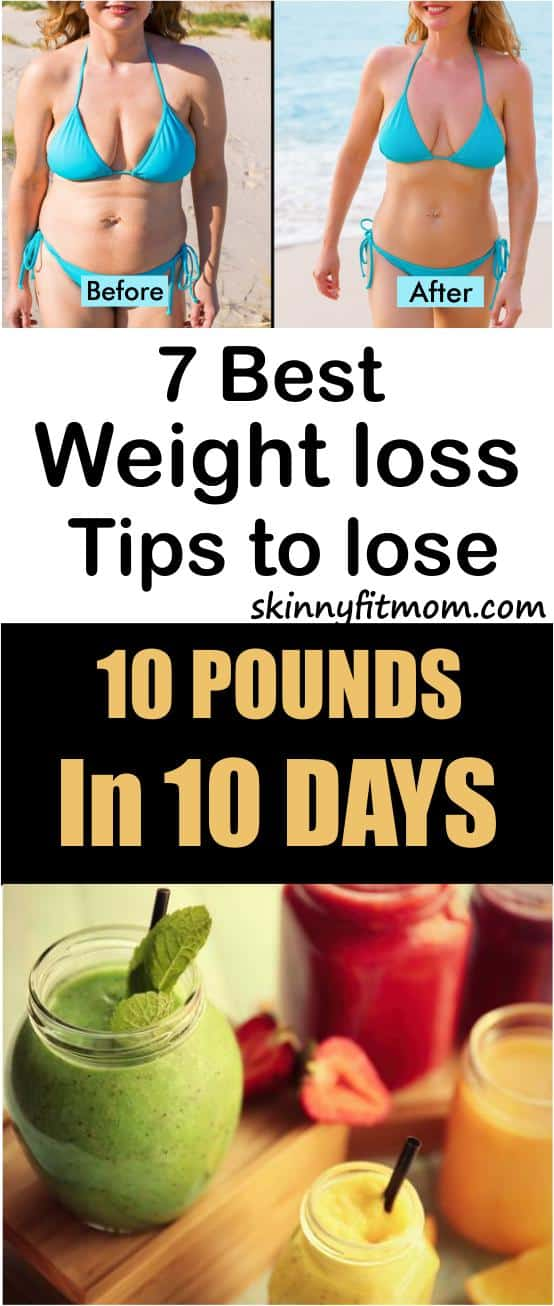 How To Realistically Lose 10 Pounds In Just 10 days - Try these effective Weight Loss secrets to flush away even more fat. #lose10pounds, #burn100calories