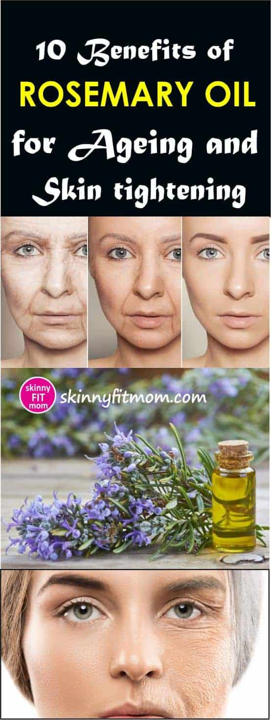 Rosemary oil is a potent anti-aging oil that comes with diverse benefits including skin tightening. In this article, you will find 10 benefits of using rosemary oil for your skin. #RosemaryOil #RosemaryOilForSkinTightening #BenefitsOfRosemaryOil