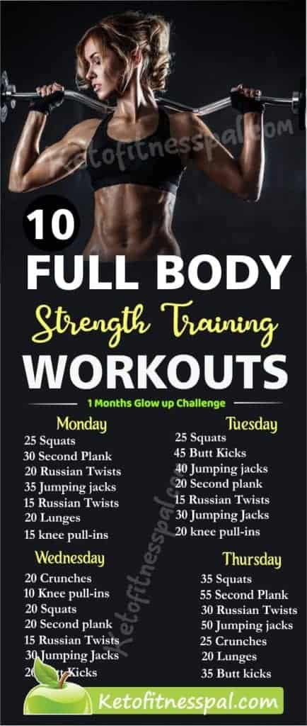 Here's the secret to increase stamina and endurance! These full-body strength training workouts will do the magic in a flash.