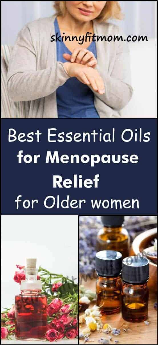 These essential oils will provide quick menopause relief for older women. Use them to combat hot flashes, depression, and discomforts that come with the unavoidable milestone of menopause. They work quick and have no side effect! #EssentialOils #MenopauseRelief #EssentialOilsForMenopauseRelief