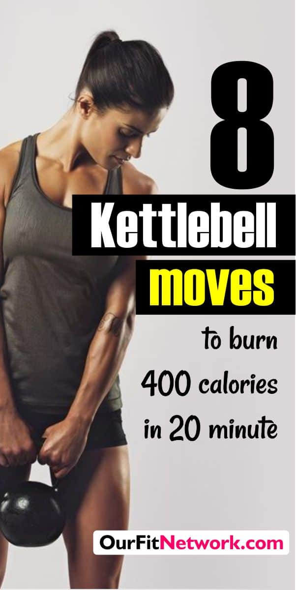 Here are 10 solid and intense Kettlebells move to tone the entire body and burn over 400 calories in just 20 minutes. Boost your fitness goal with these moves and watch the excess fat burn off.
