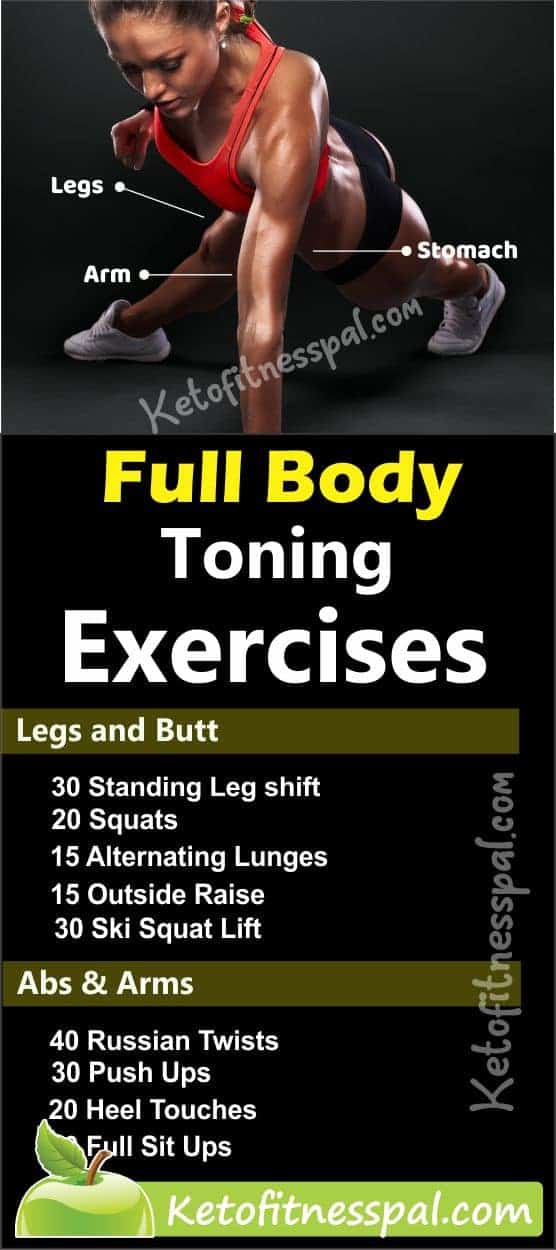 Toning exercises is an effective way to lose nagging excess body fat in the body. Try these 9 body-toning exercises and have a stunning body that you crave for.