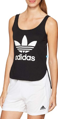 Adidas Women Essential Linear Logo Tank-Top 10 Rated Affordable Workout Clothes from Amazon