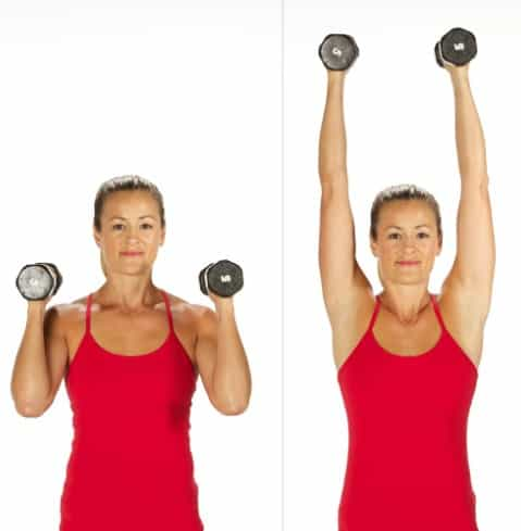 Elbow Squeeze Shoulder Press