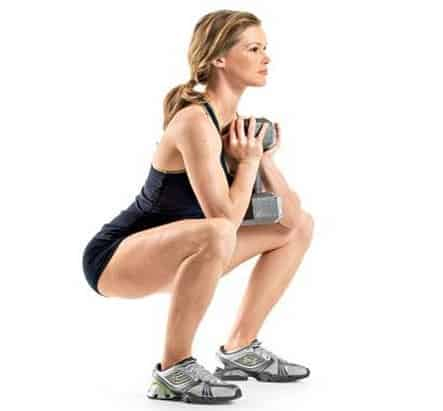 Goblet Squat- 7 Best Fat Burning Exercises For Quick Weight Loss
