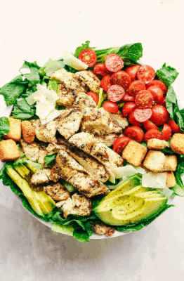 Grilled Chicken Breast served with Avocado and Seasonal Green-7 Days Keto Meal Plan