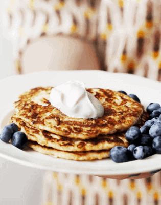 Keto Pancakes with Berries and Whipped Cream-7 Keto Meal Plan For Weight Loss