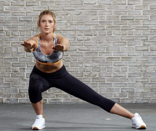 Standing Side-to-side Squats - Exercises To Get Rid of Hip Dips