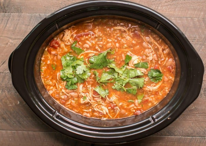 Slow Cooker Mexican Chicken Soup -12 Delicious Low Carb Keto Dinner Ideas