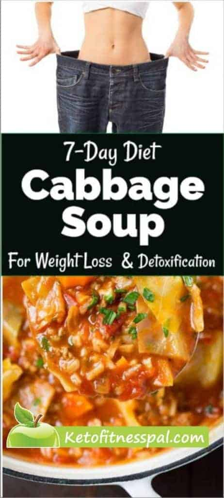 Below is a 7-day cabbage soup diet for fast weight loss to help you get in shape fast. Have a bowl of cabbage soup instead of a meal and it'll carry you to lose weight  This diet works best if followed by a low-calorie meal plan to help you stay in shape.