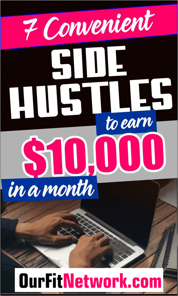 Wondering how we made $10,000 in a month? Here are the 7 convenient side hustles than earn us that huge sum. Check out this post for more side jobs. #sidehustles #extraincome #personalincome
