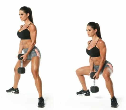 Adductor Squat With A Dumbell- Brazilian Butt Lift Workout