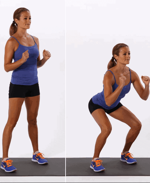 Basic-Squats-Glutes-Exercises-for-Home