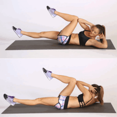 Bicycle Crunches- 10 Best Exercises to Get Rid of Muffin Top & Side Fat Really Fast.