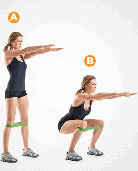 Bodyweight-Squats-With-Knee-Press-Out-Glute-Exercises-at-home