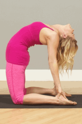 Camel Pose- 8 Powerful Yoga Poses To Reduce Stubborn Belly Fat