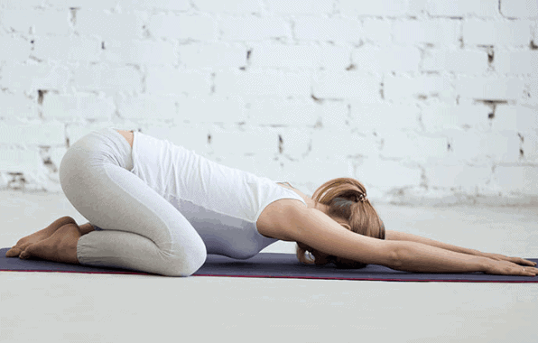 Child's Pose- Yoga Poses for Anxiety and Depression