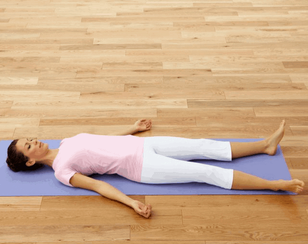Corpse Pose- Yoga Poses for menstrual pain