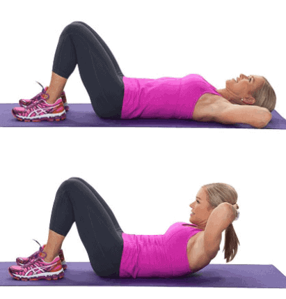Crunches- 10 Best Fat Burning Workouts for Quick Weight Loss