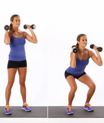 Dumbbell Squats- 10 Full Body Strength Training Workouts