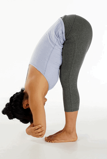 Forward Fold for Painful Menstrual Cramps
