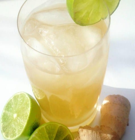 Ginger, Lime Water for Weight Loss and Detoxification