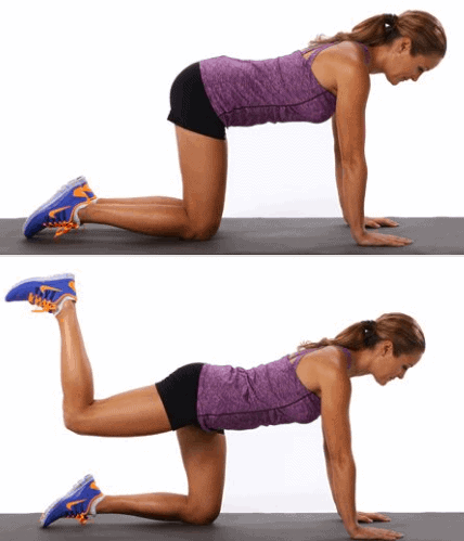 Glute Kickbacks- How to Eliminate Fatness on Legs, Back of Thighs and Bum Fast in 7 Days