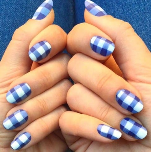 Gorgeous Gingham - Useful Nail Polish Hack