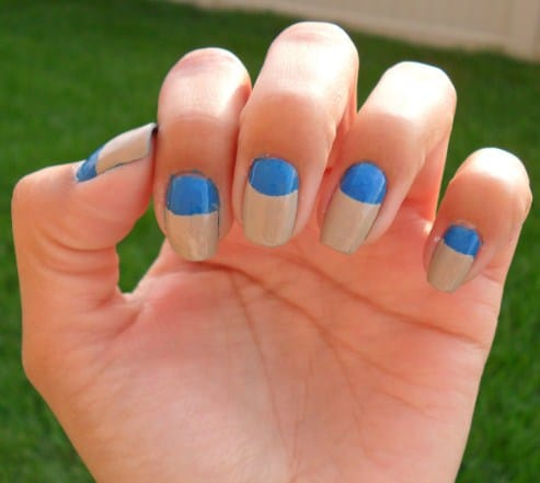 Half Moon Manicure - DIY Nail Designs