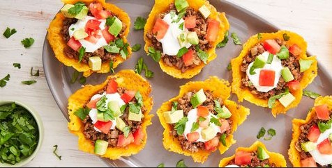 Keto Cheese Shell Taco Cups-healthy meals to lose weight
