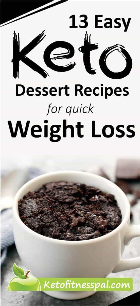 Who told you that you can't enjoy your sweet desserts while on ketogenic diet. Here are easy keto dessert recipes to aid weight loss very fast.