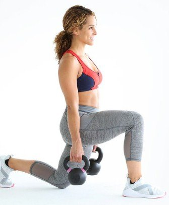 Kettlebell Lunge Press- 8 Kettlebell Moves to Burn 400 Calories in 20 Minutes